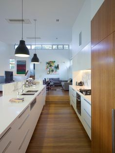 Bowler Residence by Tim Stewart Architects (3) - love this wood cabinetry