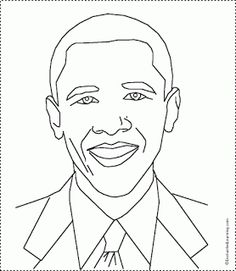 nice barack obama coloring page pictures