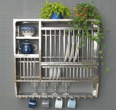 Stainless Steel Plate Rack-Large