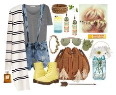 """""""Boho Overall Shorts"""" by ember-echo ❤ liked on Polyvore featuring T By Alexander Wang, Cultural Intrigue, WithChic, Patricia Nash, Dr. Martens, Jennifer Behr, Ray-Ban, Casetify, Creative Co-op and Frye"""