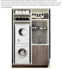 (Electrolux dryer) i like this laundry room setup