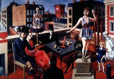 Rudolf Schlichter, The Rooftop Studio, 1922
