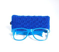 Blue Glasses Case Reading Glasses Cozy Eyeglasses by MallinaDesign, $15.50