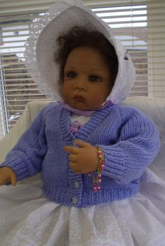 Baby sweater/ cardigan  Classic style Color choice by JaminaRose, £10.50
