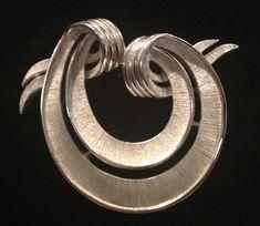 Trifari Mid century silver tone brooch by WhirleyShirley on Etsy, $18.00