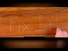 Erase Scratches In Your Wood Floor. Furniture RepairClean ...