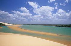Barra dos Remédios beach/Camocim/Ceará-Brazil