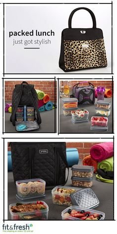 Packed lunch just got stylish! Check out www.Fit-Fresh.com for trendy adult lunch bags and totes. #lunchstyle
