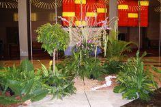 Decoración - jardín central Megápolis Panamá 2015