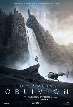 The first official 'Oblivion' poster. 'Oblivion' stars Tom Cruise and Morgan Freeman. April Im going ahead and pinning to my favorite movies board! You KNOW this is going to be good! Tom Cruise and Morgan Freeman together! Oblivion Movie, Oblivion 2013, Great Movies, New Movies, Movies Online, Movies And Tv Shows, Watch Movies, Upcoming Movies, Sci Fi Movies