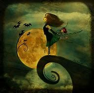Image result for moon and witch art