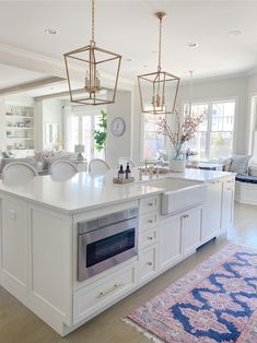 Spring Tour Part Living Room Kitchen Redo, Living Room Kitchen, New Kitchen, Kitchen Remodel, Kitchen Design, Kitchen Ideas, Dining Rooms, Kitchen Island, Porches