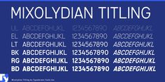 Fresh Free Font Of The Day : Mixolydian Titling