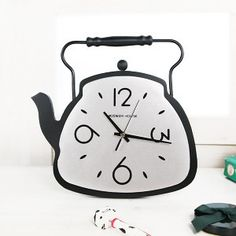 Water-heater like clock,stands in kitchen Kitchen Clocks, Teapots, Hello Kitty, Geek Stuff, Snoopy, Inspire, Water, Clothing, Model