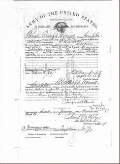Debby's Family Genealogy Blog: Civil War-Certificate of Disability for Discharge