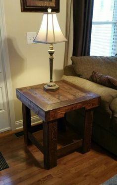my first pallet end table more