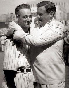 Lou Gehrig, Babe Ruth, Ruth 3, New York Yankees Baseball, Ny Yankees, Damn Yankees, Cardinals Baseball, Yankee Stadium, Dodgers