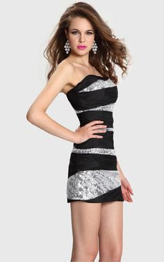 Mini Tight Evermiss 1131 Short Dress 2013 for Homecoming