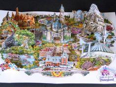 Disneyland Vintage for sale Disneyland Vintage, Disneyland Map, Disneyland California Adventure, Disney Magic, Disney Fun, Disney Stuff, Disney World Map, 3 D, Pop Up Art