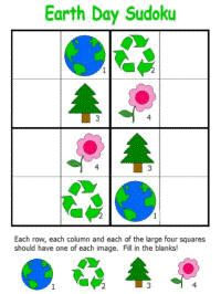 Free printable Earth Day sudoku puzzles for preschool, kindergarten and elementary school kids. Earth Day Games, Earth Day Tips, Earth Day Activities, Interactive Student Notebooks, Coding For Kids, Baby Flower Headbands, Lace Flowers, Math Games, Holiday Crafts