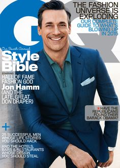 Don Draper himself on the cover of GQ's April Issue.