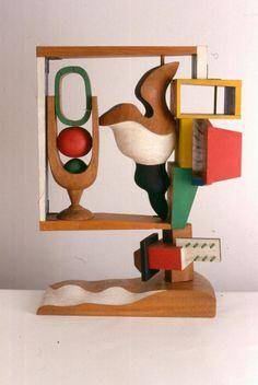 Nature Morte, Le Corbusier, 1927-1957, Bois polychrome, signeI`- et dateI`- sur le socle L.C-J.S 1957 A^ ©Fondation Le Corbusier- ADAGP 2013.