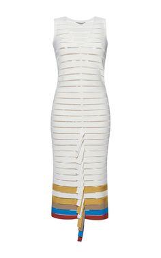white bandage dress by marco de vincenzo