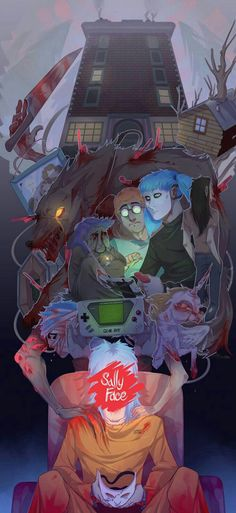 Read Chapter 11 (Finale) from the story Larry Face (The Squeakquel) by oh_dear_sally (no hetero™) with reads. (Not my art) Sal. Fanart, Larry, Creepy Games, Sally Face Game, Epic Art, Pokemon, Face Characters, Indie Games, Pretty Art