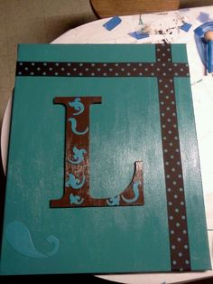 Monogram canvas painting by me