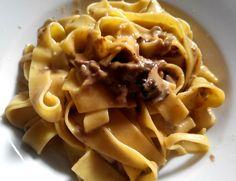 Italian Food and Style: Tagliatelle con crema di funghi e tartufo