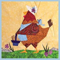 Little Red Hen Paper Pieced Pattern ~ PaperPanache.com