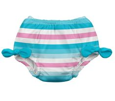 3 to 4 Years Pink Mini Stripe i play Swim Nappy