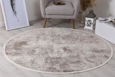 Istanbul Modern Ayla Beige Round Rug   Pile Height: 5mm Material: 65% Polypropylene,35% Polyester Rug Type: Indoor Easy to clean Style(s): Modern & Contemporary Pattern(s):Vintage, Modern