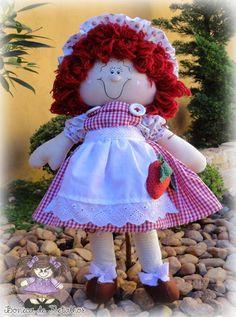 Boneca Moranguinho   Ateliê Boneca de Retalhos   194A58 - Elo7