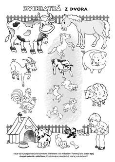 Farm Animals, Animals And Pets, Embroidery Patterns, Preschool, Teaching, Education, Kids, Prints, Jar