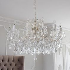 New Pieces We Love From The French Bedroom Company Der Kronleuchter Chambery White Glass von The Fre French Chandelier, Chandelier Bedroom, Rustic Chandelier, Glass Chandelier, Chandelier Lighting, Chandeliers Modern, Chandelier Ideas, Luxury Chandelier, Iron Chandeliers