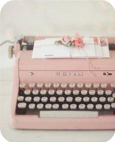 Pink type writer