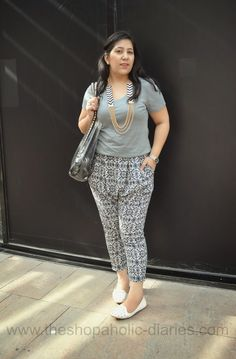 The Shopaholic Diaries - Indian Fashion, Shopping and Lifestyle Blog !: OOTD - Play It Up with Tribal Print Pants #ootd #Forever21