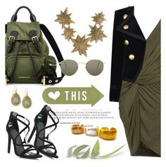 """""""Oh, olive!"""" by pensivepeacock ❤ liked on Polyvore featuring Augusta, Yves Saint Laurent, Burberry, Tory Burch, Panacea, Ray-Ban and 6ixlabel"""