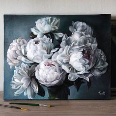 Exquisite & Delicate Oil Paintings by Diana Tuchs Russia-based self-taught artist Diana Tuchs explores the diversity of oil colors by studying elaborate landscapes and dainty flowers. What began as a. Painting Inspiration, Art Inspo, Plastic Art, Oeuvre D'art, Watercolor Flowers, Painting & Drawing, Flower Art, Art Photography, Canvas Art