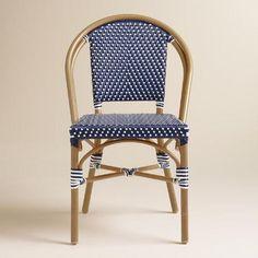 Dark Navy Kaliko French Bistro Chairs Set of 2 | World Market