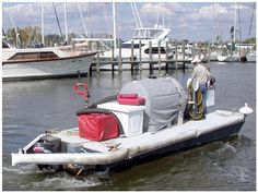 """The mobile Pump-out Boat, run by Herrington staff, provides a convenient """"in your slip"""" pump-out."""