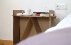 11 Cardboard Furniture Ideas for Dorm Rooms and Tiny Apartments: How to Make a Cardboard End Table
