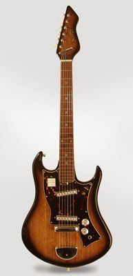 Norma Solid Body Electric Guitar, most likely made by Teisco , c. 1969