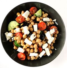 Chicho's Kitchen: Chickpea salad with feta cheese