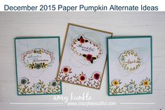 {crazy} beYOUtiful by Amy Kunkle ~ DIY Crafter, Podcaster and YouTuber - December 2015 Paper Pumpkin Alternate Ideas