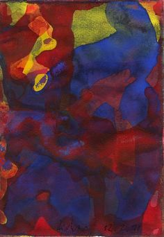 Gerhard Richter watercolour on paper 1991