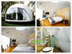 China 12 Geodesic Dome Tent Houses are Designed & Built - Wugong Mountain Resort supplier Tent Room, Dome Structure, Bathroom Installation, Luxury Tents, Dome Tent, Dome House, Geodesic Dome, Glass House, White Walls