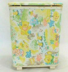 Vintage Redmon Baby Infant Child Hamper with box  | eBay Shoe Rack On Wheels, Vintage Laundry, Storage Cart, Rope Basket, Laundry Hamper, Vintage Branding, Hampers, Cotton Rope, Infant
