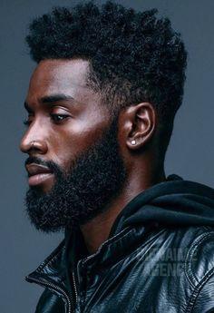 17 Ideas For Haircut Black Men Afro Natural Hair Fine Black Men, Gorgeous Black Men, Handsome Black Men, Beautiful Men, Black Women, Black Men Haircuts, Black Men Hairstyles, Hairstyle Short, Black Men Beards